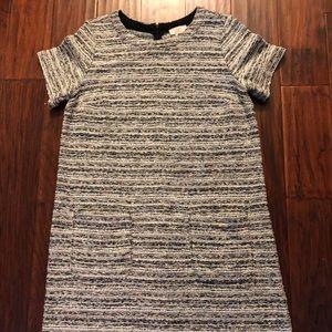 LOFT textured shift dress with pockets